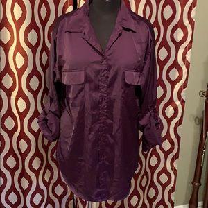 Deep purple blouse